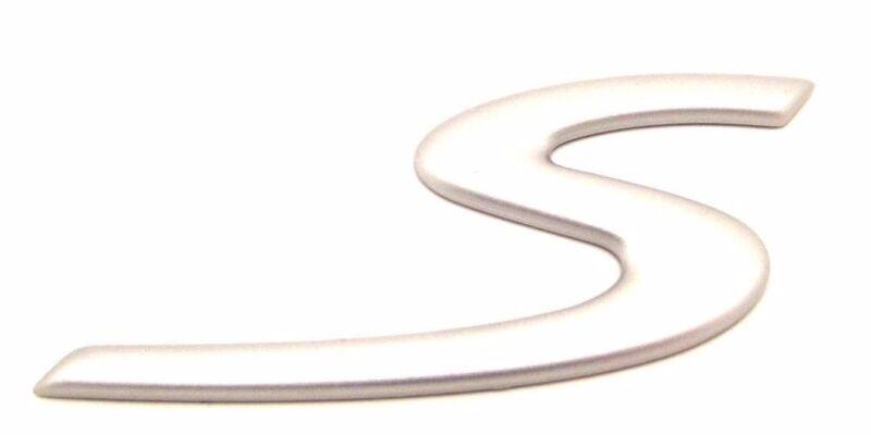 NEW Porsche 986 987 Boxster S Boxter Silver Rear Badge