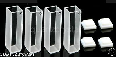 Set Of 4 Quartz Cuvettes 10mm Cuvette Cell Spectrometer Cells Cuvettes