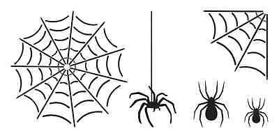 Spider Crafts For Halloween (HALLOWEEN STENCIL**Webs & Spiders** for Windows signs crafts scrapbook)