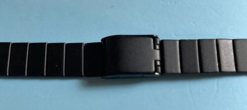 12mm Up To 15mm Black Steel Watch Band - $9.00