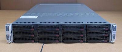 """Supermicro 4 Node Server 6027TR-HTQRF CTO 2U 12 x 3.5"""" no CPU no Mem Superserver"""