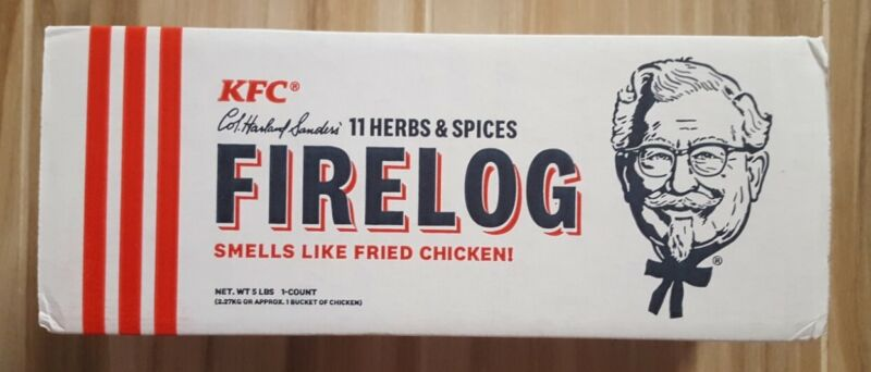 KFC 11 Herbs Spices Fire Log Enviro-Log Firelog Chicken Scented Limited Edition