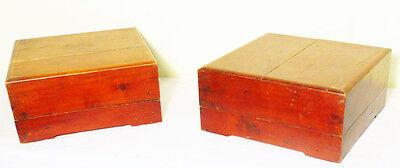 Chinese Treasure - Antique Chinese Treasure Box (5037) One Pair, Cypress Wood