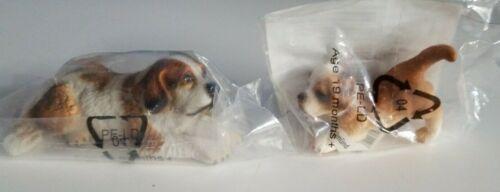 New RETIRED Schleich Dogs, St BERNARD Female & Puppy #16380 & 16345