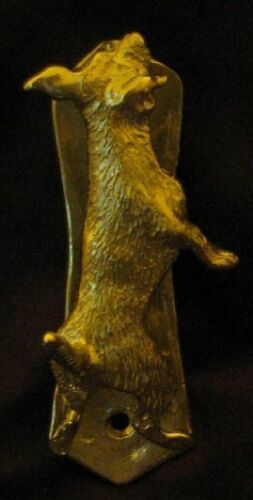 JACK RUSSELL TERRIER Solo Door Knocker in Bronze
