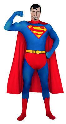 2nd Skin Superman Ganzkörperanzug Second Skin Kostüm für - Superman Kostüm Für Erwachsene