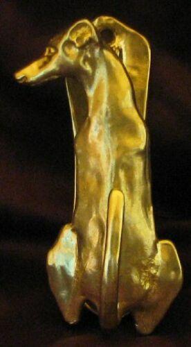 WHIPPET  or Greyhound Solo Door Knocker in Bronze