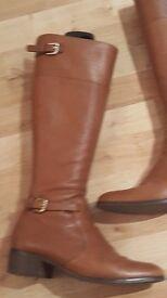 LK Bennett, knee high boots, tan