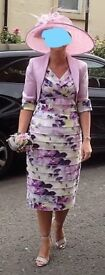 Inspirato,Mother of the bride/groom dress,jacket and matching hat.Size 8.Excellent condition
