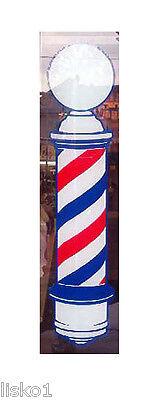 "Barber Shop Window Barber Pole Decal 22"" x 5"" static cling vinyl"