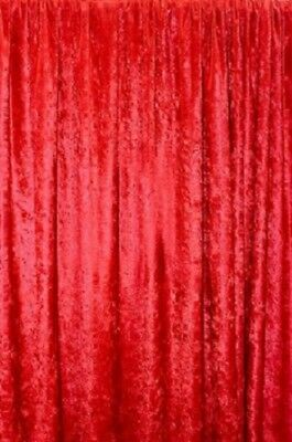 PANNE VELVET RED Crush Velour Curtain Drape Panel Back Drop 60