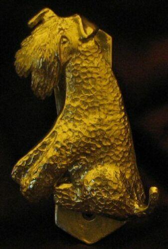 KERRY BLUE TERRIER Solo Door Knocker in Bronze