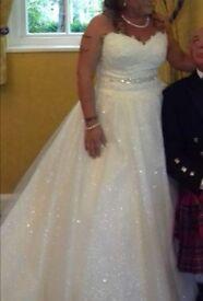 Stunning wedding dress ivory