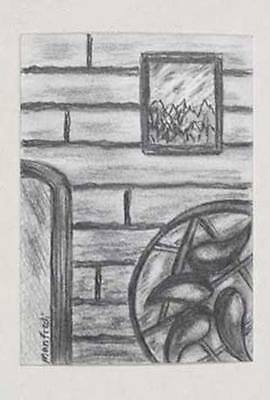 Miniature Drawing Brick Wall Art ACEO Card Abstract Realism Original Work OOAK - $2.99