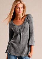Venus SM Grey Sweater, 3/4 sleeve