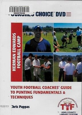 Youth Football Coaches' Guide To Punting Fundamentals & Techniques (DVD) (15E)