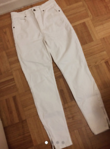 Guess White Vintage High-Waisted Jeans