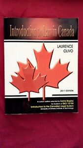 Introduction to Law in Canada (volume 1 and 2) 2012 printing
