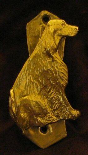 ENGLISH SETTER Solo Door Knocker in Bronze
