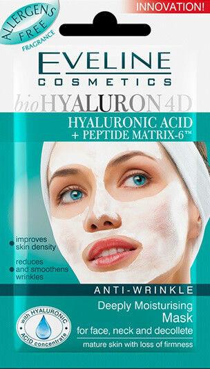 EVELINE Anti-Wrinkle Deeply Moisturising Face Mask HYLAURONIC ACID
