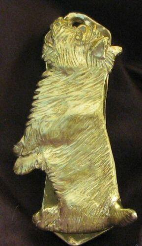 CAIRN TERRIER Solo Door Knocker in Bronze