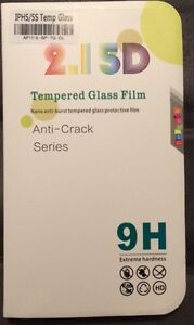 New Tempered Glass Screen Protector iPhone 5-5S