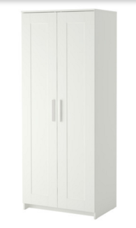 White 2 door Wardrobe from Ikea less than 12 months old RRP $130