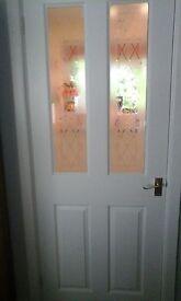 Brand new internal door part glazed and primed