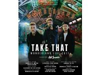 Take That Wonderland tickets standing O2 6th June