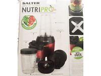 Salter Nutri Pro 1200W Multi Purpose Nutrient Extractor Blender Juicer 1L Bullet