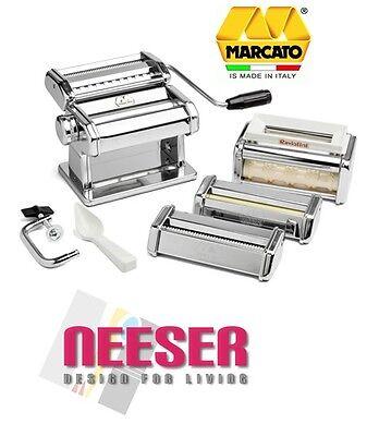 Marcato Nudelmaschine ATLAS 150 mit 3 + 1 Aufsätzen - Multipast  2000 MEGA-SET