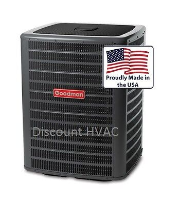 4 ton 2-stage 16 SEER Goodman central air condition AC unit Condenser GSXC160481
