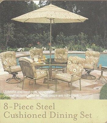 Elegant 8 Piece patio furniture by home trends