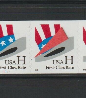 """US EFO, ERROR Stamps: #3265 Hat. PS7, #1131 PNC """"Mini Hat"""" plate variety! MNH"""