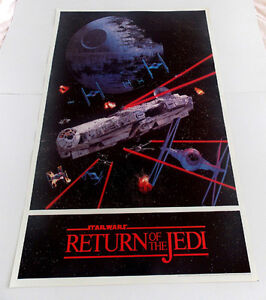 STAR WARS RETURN OF THE JEDI POSTER FROM 1983 RARE AND VINTAGE!!