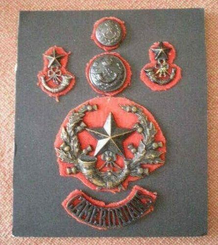 WW1 Cameronians Scottish Rifles Glengarry Cap, Collar, Title Badges & Buttons