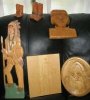LOCALLY CRAFTED WESTERN THEMED WOOD CARVINGS   See all pics