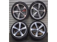 """**19"""" TTRS STYLE ALLOYS & TYRES** (AS NEW ONLY 4 WEEKS OLD)**"""