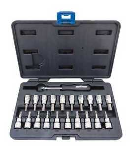 New in the box - 2 sets - 21 sockets and 29 drill bits