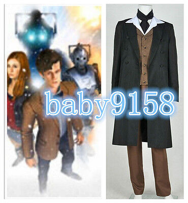 hot !Doctor Who 8th Dr Paul McGann Cosplay Costume Suit Outfit Halloween Costume - Doctor Who Halloween Outfit