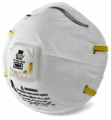 3M 8210V N95 Particulate Respirator W/ Exhalation Valve 10 Masks Box EXP 05/2026