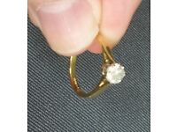 Ladies 18ct 'Yellow Gold' .50ct, size K1/2 Diamond Ring, HColour Si1 **BARGAIN**