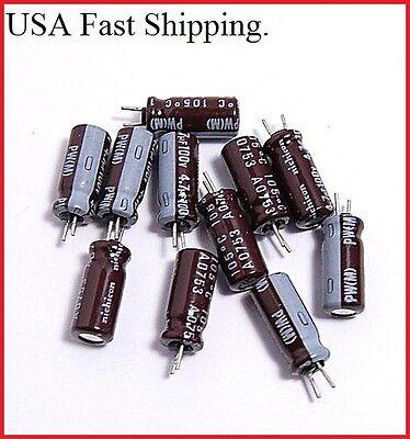 (12pcs) 4.7uf 100v Nichicon Radial Electrolytic Capacitors.5x12mm.pw(m).
