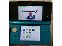 Nintendo 3DS Blue Console with Installed Games