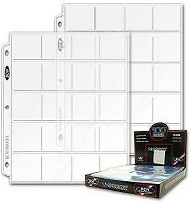 TEN (10)  BCW Pro 20 Pocket Pages for 2X2 Coin Flips NEW