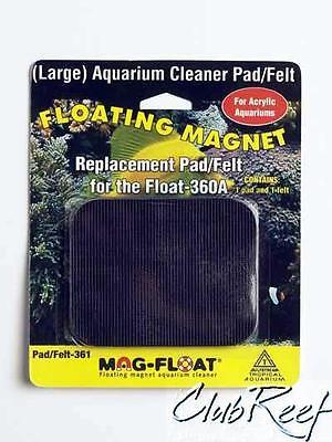 Magfloat Acrylic Aquarium Algae Magnet Replacement Pad Set Mag-Float 360A