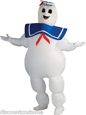 OFFICIAL GHOSTBUSTERS INFLATABLE STAY-PUFT MARSHMALLOW MAN HALLOWEEN COSTUME](Ghostbuster Marshmallow Man Costume)