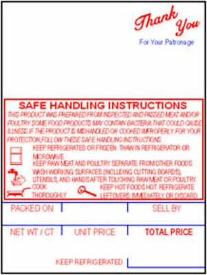 Hobart Sp-80sp-1500300 Style K Safe Handling Scale Labels