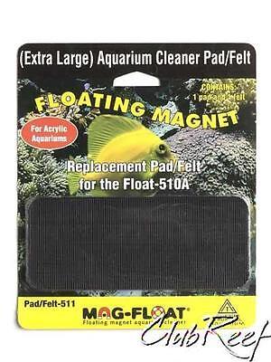 Magfloat Acrylic Aquarium Algae Magnet Replacement Pad Set Mag-Float 510A