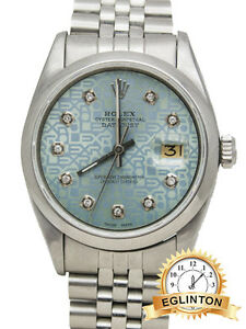 Rolex Datejust Stainless Steel 6605 with Blue Diamond Jubilee Di